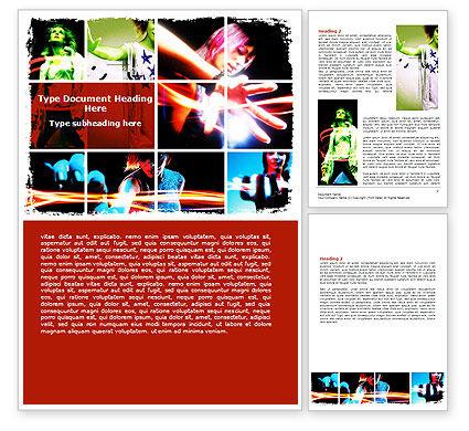 Art & Entertainment: Neon Girl Word Template #06577