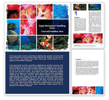 Nature & Environment: Sea Life Word Template #06578