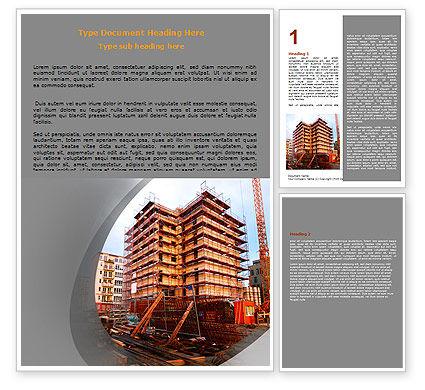 Construction: 建築セクター - Wordテンプレート #06587
