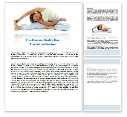 Medical: Free Body Stretching Word Template #06589