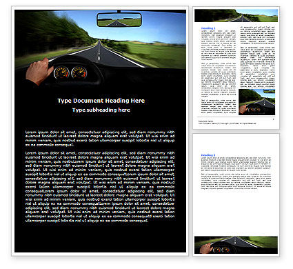 High Speed Driving Word Template, 06591, Cars/Transportation — PoweredTemplate.com