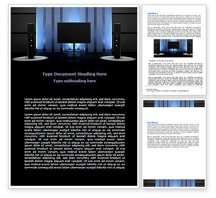 Art & Entertainment: Templat Word Teater Rumah #06592
