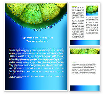 Fresh Slice Word Template, 06595, Food & Beverage — PoweredTemplate.com