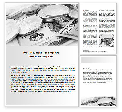 Monetary Reserves Word Template, 06600, Financial/Accounting — PoweredTemplate.com