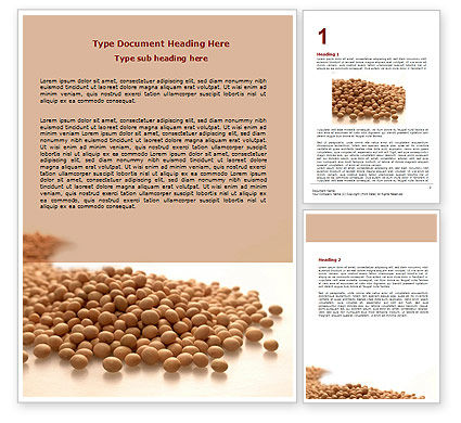 Soy Beans Word Template, 06609, Agriculture and Animals — PoweredTemplate.com