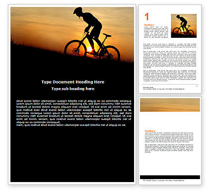 Big Efforts Word Template, 06616, Sports — PoweredTemplate.com