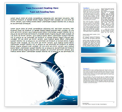 Nature & Environment: Swordfish Word Template #06617
