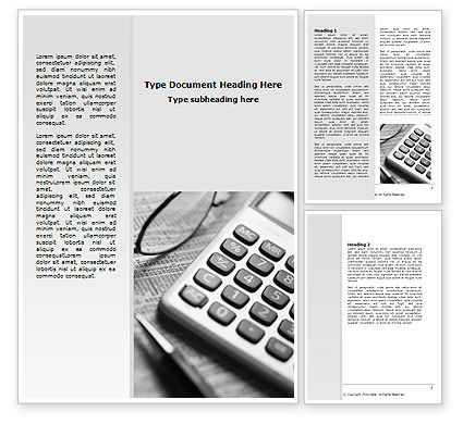 Investment Adviser Word Template, 06618, Business — PoweredTemplate.com