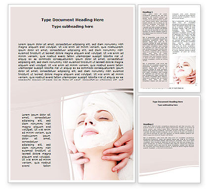 Medical: Face Pack Word Template #06620