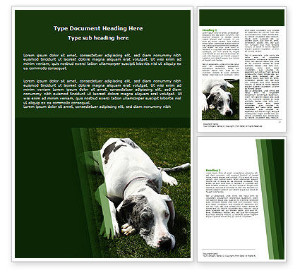 Dane Word Template, 06622, Agriculture and Animals — PoweredTemplate.com