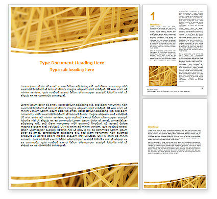 Italian Pasta Word Template, 06624, Food & Beverage — PoweredTemplate.com