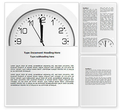 Free Seconds Before Noon Word Template, 06628, Business — PoweredTemplate.com
