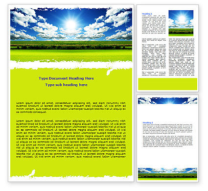Bright Day Word Template, 06630, Nature & Environment — PoweredTemplate.com