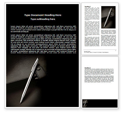 Lovely Pen And Diary Word Template, 06645, Business U2014 PoweredTemplate.com And Diary Word Template