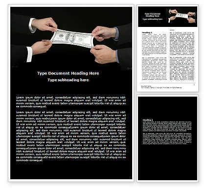 Stretching a Hundred Dollars Word Template, 06646, Business — PoweredTemplate.com