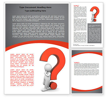 Question Mark Word Template, 06651, 3D — PoweredTemplate.com