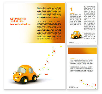 Holiday/Special Occasion: Orange Speelgoedauto Word Template #06656