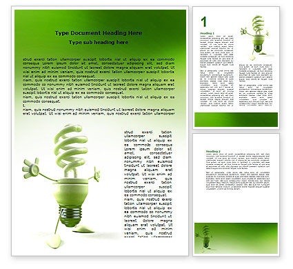 Energy Save Lamp Word Template