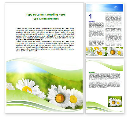 Holiday/Special Occasion: Camomile In The Fields Word Template #06664