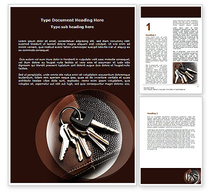 Bunch Of Keys Word Template, 06666, Business Concepts — PoweredTemplate.com