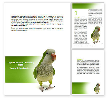 Nature & Environment: Quaker Parrot Word Template #06678