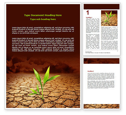 Nature & Environment: Survival In Desert Word Template #06680