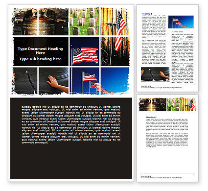 Holiday/Special Occasion: Memorial Day Collage Word Template #06684