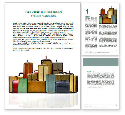 Luggage Word Template, 06688, Careers/Industry — PoweredTemplate.com