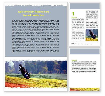 Sports: Golf Field Word Template #06689