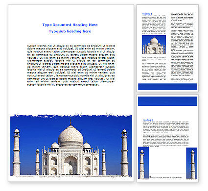 Indian Taj Mahal Word Template