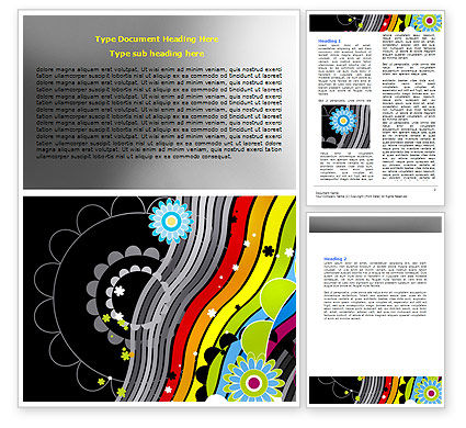 Education & Training: Abstract 70th Party Word Template #06694