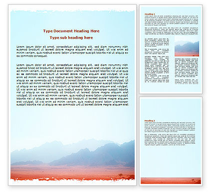 Nature & Environment: Fog Mountain View Word Template #06695