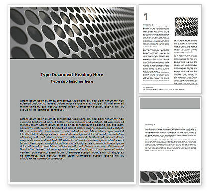 Technology, Science & Computers: Perforated Metal Word Template #06701