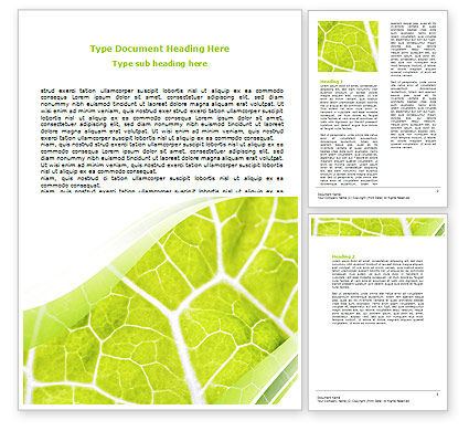 Nature & Environment: Leaf Texture Word Template #06705