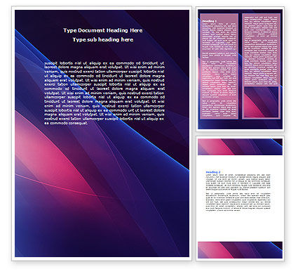 Abstract/Textures: Blue and Pink Word Template #06706