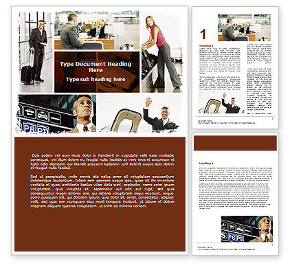 Free Airport Building Word Template, 06712, Cars/Transportation — PoweredTemplate.com