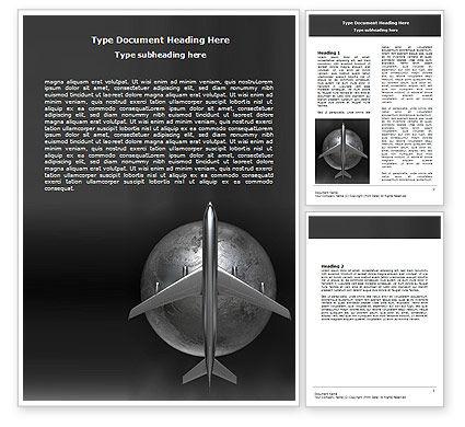 Steel Plane Word Template, 06718, Cars/Transportation — PoweredTemplate.com