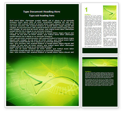 Technology, Science & Computers: Free Abstract Green Word Template #06720
