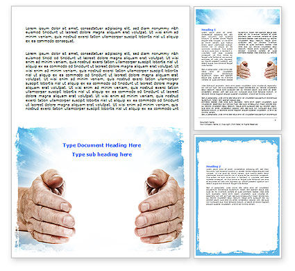 Religious/Spiritual: Heaven Light Word Template #06721