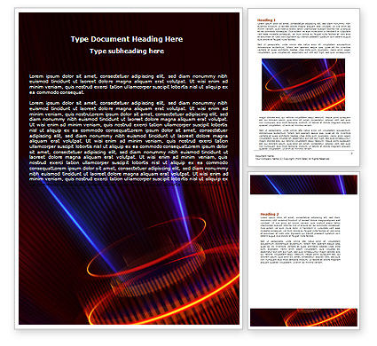 Technology, Science & Computers: Abstract Neon Glowing Circle Word Template #06736