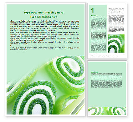 Jelly Candy Word Template, 06745, Food & Beverage — PoweredTemplate.com