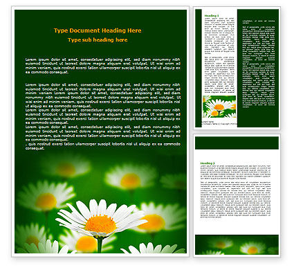 Daisy Meadow Word Template#1