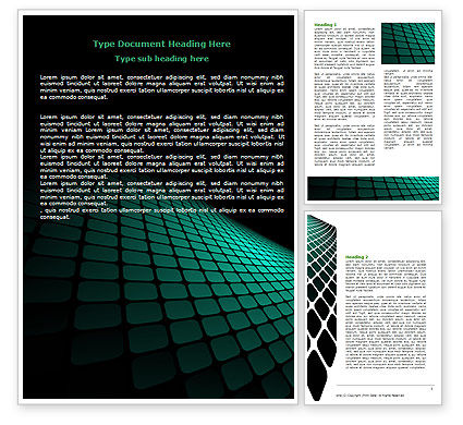 Abstract/Textures: Green Grid Theme Word Template #06757