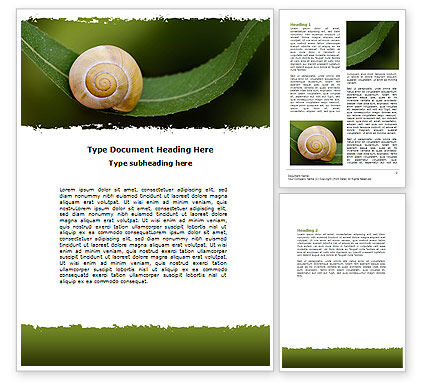 Snail Shell Word Template