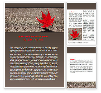 Consulting: Red Leaf Word Template #06765