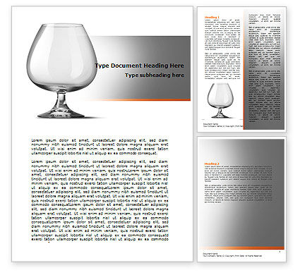 Careers/Industry: Cognac Glass Word Template #06768