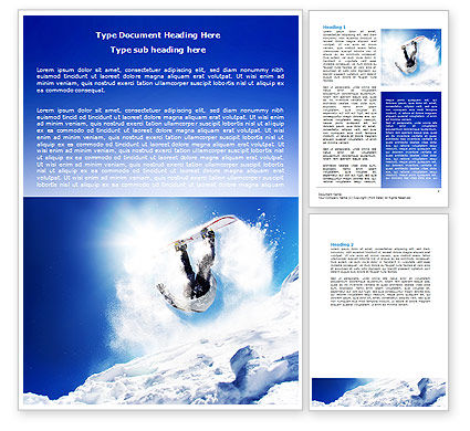 Sports: Snowboarding Tricks Word Template #06770