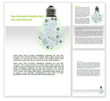 Technology, Science & Computers: Energy Saving Light Devices Word Template #06772