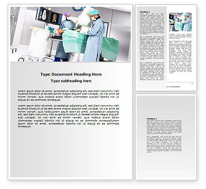 Operation In Progress Word Template, 06775, Medical — PoweredTemplate.com