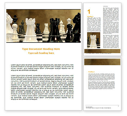 Business Concepts: Chess Figures Word Template #06776